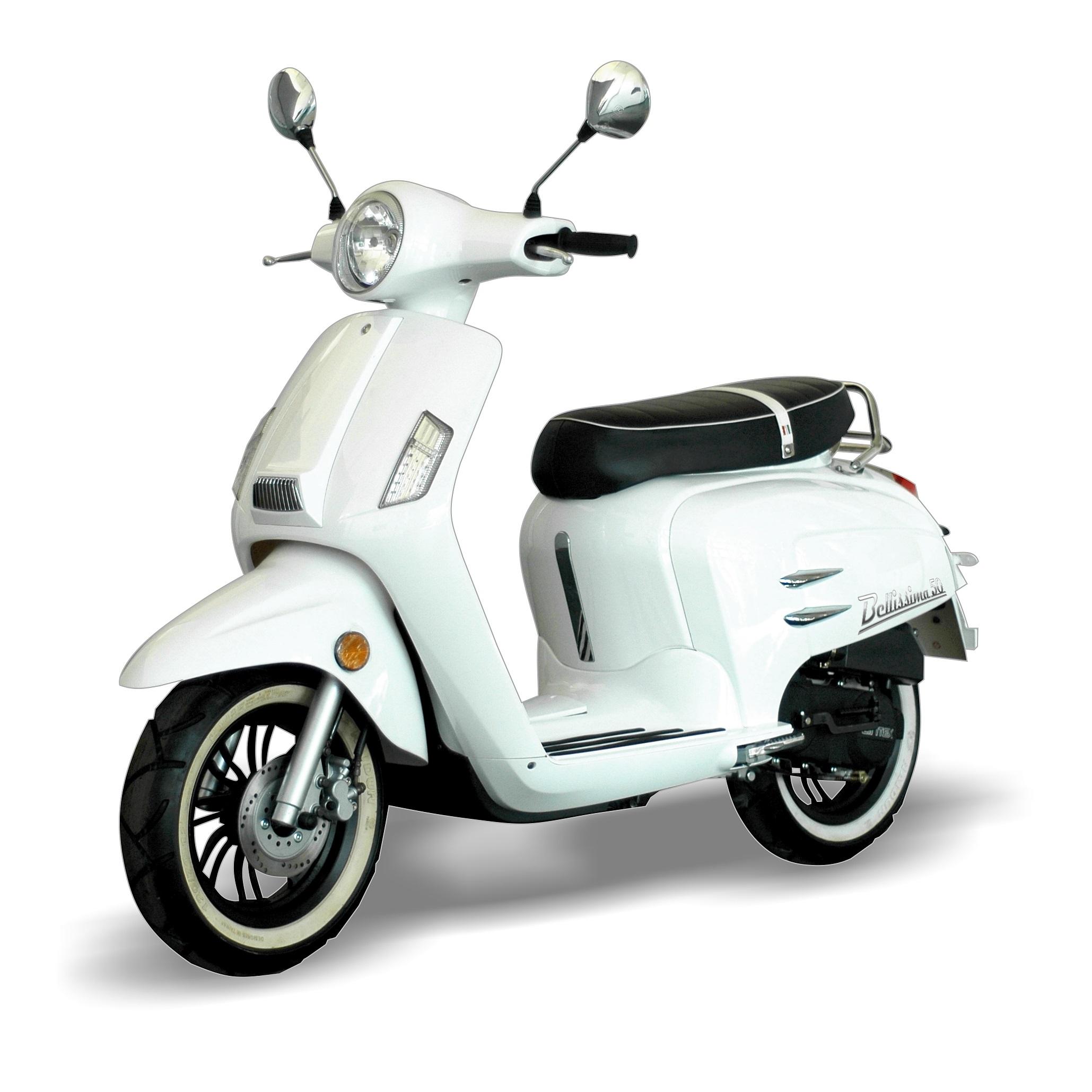 WK BELLISIMA-50-White Scooter